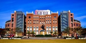 Tallahassee is home to the Florida State Seminoles