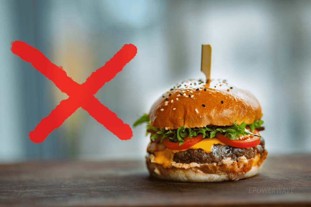 Avoid Eat fatty, fried, and cooked foods.