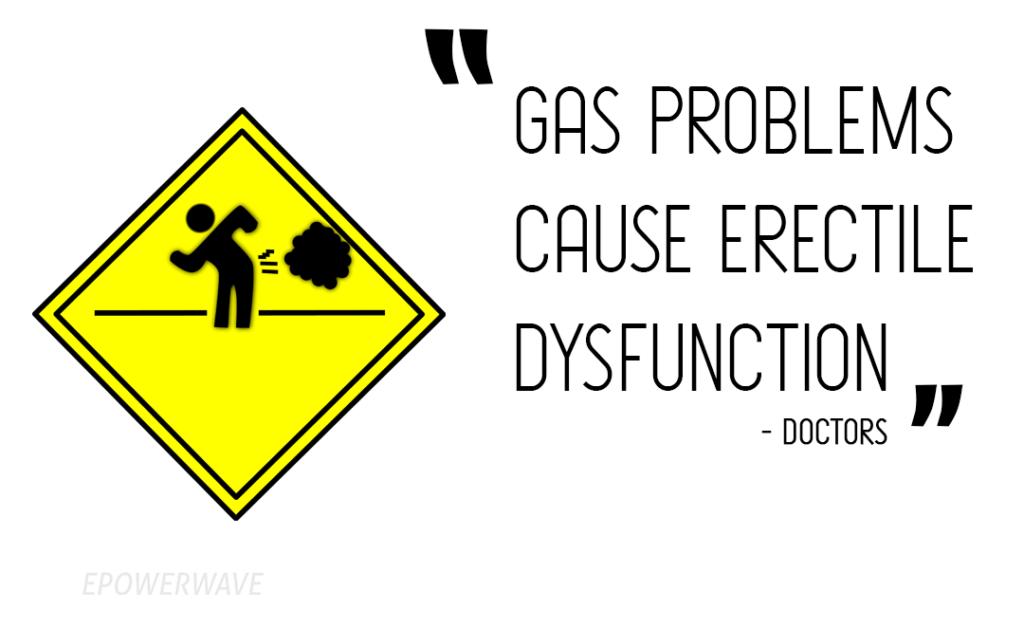 Doctors believe that gas problems cause erectile dysfunction.